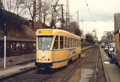 STIB-T55-0288-7074-23-01-1986 (phi5104) Tags: trams belgië belgique brussel bruxelles mivb stib ligne55