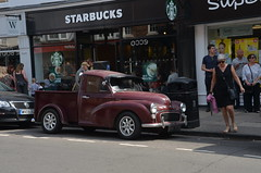 (Sam Tait) Tags: stratford upon avon car spot spotting retro rare classic street oddity 1969 austin morris minor 1000 1275 8 cwt van pick up truck vintage starbucks