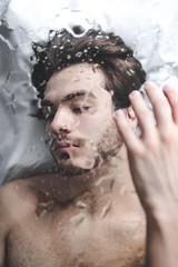 Pluie | 1 (_ALBX_) Tags: indoor naturallight studio man selfportrait conceptual creative water portrait photography photographer canon canon80d sigma 30mm albxphoto albx art