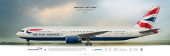 Boeing 767-300 British Airways (rulexy) Tags: posterjetavia aviation airliner aircompany airlines airline airtransport airplane jetliner jet aviationlovers avgeek airside aviationart instagramaviation civilaviation aircraftillustration worldairlines profileprints