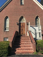 Entrance, Melville Chapel United Methodist Church (1885), 5660 Furnace Avenue, Elkridge, MD 21075 (Baltimore Heritage) Tags: church door elkridge entrance furnaceavenue howardcounty maryland methodist religiousbuilding unitedmethodist