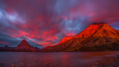 Glacier National Park Sunrise Panorama (Jeff Sullivan (www.JeffSullivanPhotography.com)) Tags: glacier national park glaciernationalpark landscape nature travel photography montana unitedstates roadtrip usa canon eos 5d mark iii photo copyright 2015 jeffsullivan september sunrise weather panorama two medicine lake