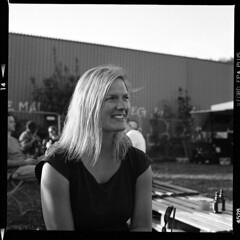Portrait K. (tiltdesign2016) Tags: canoncanoscan9000f analogphotography mittelformat bw yashicamat124g portrait ilfordfp4plus kodakd7611 wuppertal mirkerbahnhof utopia elberfeld