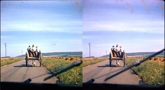 Batch E 0118 (dizzygum) Tags: vintage stereo 3d slide image france 1960 cart on road to cambric