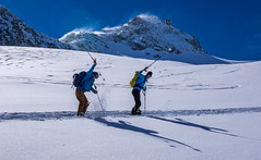 Pole Whack (Omega Guiding) Tags: ski skiing french alps alpine powder mountains