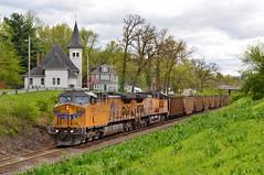 Good Friday (H-bob-omb) Tags: union pacific up 6718 railroad ge ac4400cw locomotive train tuxedo park webster groves missouri church