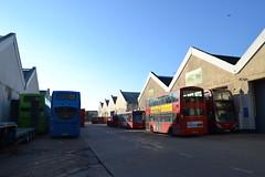 Go South Coast 1507 HW62CVF - Go-Ahead London General WS11 LJ13GJV - E148 SN60BZW & Arriva London DW235 LJ59AEE (Will Swain) Tags: eastleigh barton park 20th october 2018 bus buses transport travel uk britain vehicle vehicles county country england english south industrial estate hampshire goahead london general ws11 lj13gjv e148 sn60bzw arriva dw235 lj59aee go coast 1507 hw62cvf