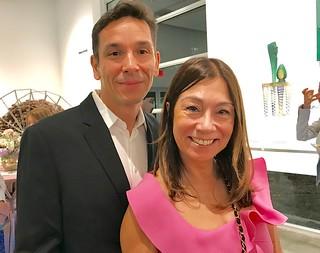 Filmmaker Stella Holmes with friend Erik Sanudo at LnS Gallery.