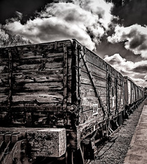 Textures in Time (iainmerchant) Tags: art artoflife iainmerchant photography theartoflife thinkingoutloud thoughtprovoking wandering quorn railway greatcentralrailway tracks train panasonic picoftheday photooftheday places clouds cloudscapes cloudscape creative bw monochrome texture textures urban urbammoments