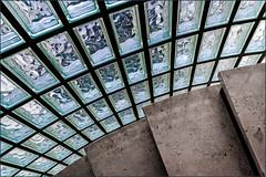 Staircase detail (Eva Haertel) Tags: eva haertel sonyilce6500 architektur architecture haus house staircase treppenhaus wendeltreppe spiralstaircase detail glasbaustein glass brick step stein stone travertine licht light transparent