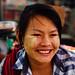 Laughing Woman Wearing Thanakha, Yangon Myanmar