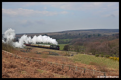 No 34092 City of Wells 3rd April 2019 North Yorkshire Moors Railway Goathland (Ian Sharman 1963) Tags: no 34092 city wells 3rd april 2019 north yorkshire moors railway goathland class wc bb west country and battle of britian 462 station steam engine rail railways train trains loco locomotive passenger heritage line nymr grosmont gothland pickering