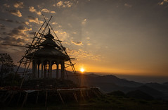 16 of 52 Weeks (Lyndon (NZ)) Tags: week162019 startingtuesdayapril162019 52weeksthe2019edition religion nepal ilce7m2 sony travel astam annapurna temple building sunrise landscape mountain