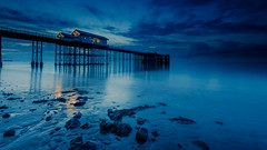 endless (shutterbug_uk2012) Tags: uk united kingodm penarth pier blue hour water seascape rocks shoreline long exposure reflections wet sand clouds sunrise pre dawn smooth wales
