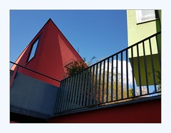 pyramid? (overthemoon) Tags: switzerland suisse schweiz svizzera romandie vaud lausanne rôtillon urbanrenewal colourful phone frame