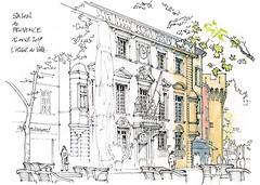 Salon de Provence (gerard michel) Tags: france provence salondeprovence architecture hôteldeville sketch croquis