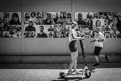 Scooters of DC (Phil Roeder) Tags: washingtondc scooter scooters blackandwhite monochrome nationalgalleryofart mural leica leicax2