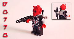 Gorro (OB1 KnoB) Tags: lego star wars minifigure custom gorro greedo red rodian bounty hunter blasters path cantina old republic tor kotor knights prototype grumm back pack mercenary