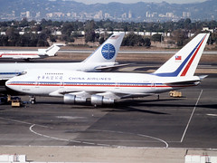 N4508H Boeing 747SP of China Airlines at LAX in Nov 1981 (johnyates2011) Tags: lax chinaairlines n4508h b747sp boeing boeing747sp