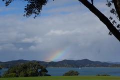 Rainbow across the bay (koukat) Tags: nz new zealand northland bay islands waitangi russell ferry waitaingi treaty grounds museum busby residency house historic history historical maori