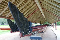 Ceremonial War Canoes (koukat) Tags: nz new zealand northland bay islands waitangi russell ferry waitaingi treaty grounds museum busby residency house historic history historical maori