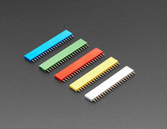 "20-pin 0.1"" Female Headers - Various Colors - 5 pack (adafruit) Tags: femaleheaders 20pinfemaleheaders headers accessories electronics diy diyelectronics diyprojects projects adafruit addons 4160 20pinheaders colors"