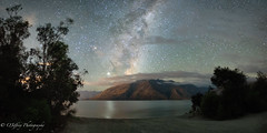 Cecil Peak Nightscape (OJeffrey Photography) Tags: southisland newzealand queenstown lakewakatipu nightscape nightsky panorama pano milkyway stars starscape clouds ojeffreyphotography ojeffrey jeffowens nikon d850 jupiter