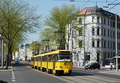 267+217+033 Linie E3 (Kevin Schenkel) Tags: tatra t4d tram strasenbahn sonne frühling fotografie verkehr nahverkehr öpnv dvb dresden