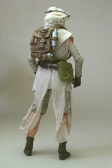"TBS 6"" Rey (Speeder) with custom soft goods hood (StarAlien70) Tags: starwars customised staralien70 actionfigure 112scale 6inch rey theforceawakens jakku ahchto daisyridley"