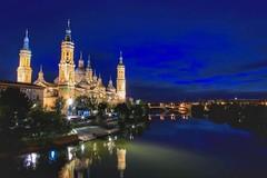 Nuestra Seńora del Pilar. Zaragoza, Spain (mtm2935) Tags: dark night longexposure católica catholic iglesias churches spain zaragoza basílicas cathedrals