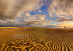 Golden Sand Waves (lfeng1014) Tags: goldensandwaves crosbybeach anotherplace liverpool england uk beach sandwaves sand bluesky panorama landscape canon5dmarkiii ef1635mmf28liiusm travel lifeng