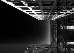 FRONT bottom up (MAICN) Tags: lines dortmund architektur building reflection mono linien sw mirroring bw blackwhite monochrome geometrisch schwarzweis spiegelung architecture einfarbig reflektion 2019 geometry gebäude