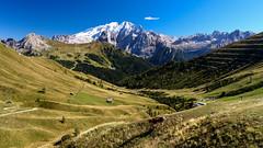 Campitello-040 (NiBe60) Tags: berg alpen italien trentino südtirol dolomiten fassatal rifugio col rodella sella joch passo pordoi marmolada gletscher canazei mountain alps italy south tyrol dolomites pass glacier