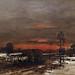 Winter Road By M MUNKACSY 1882                        124c