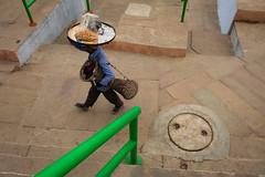 Circle (SaumalyaGhosh.com) Tags: circle man face color india benaras varanasi street streetphotography stairs work seller