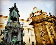 Charles IV statue in Prague, Czech Republic. 2018 (Aris Jansons) Tags: statue monument charlesiv king romanempire square city capital prague praha česko czechia czechrepublic europe