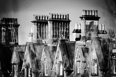 Rooftops (jmiller35) Tags: skyline houses sandstone blancoynegro bw blackandwhite buildings architecture canon chimney oldtown heritage scotland edinburgh