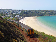 150234 & 150244 Carbis Bay (7) (Marky7890) Tags: gwr 150234 class150 sprinter 2a26 carbisbay railway cornwall stivesbayline train carrackgladden