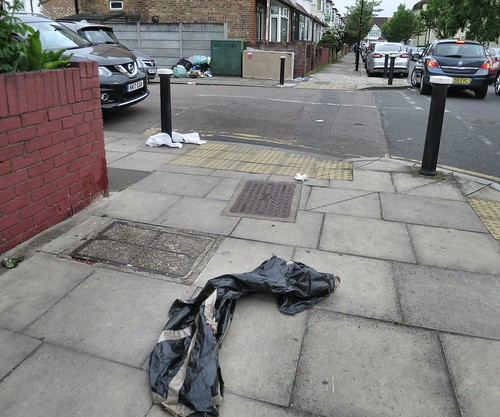 Rubbish Dumping in Mafeking Road, N17 - Initial view from Ladysmith Road