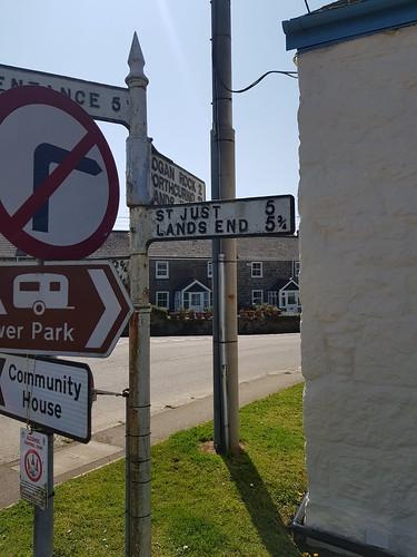 St Buryan Road Sign 3 210419