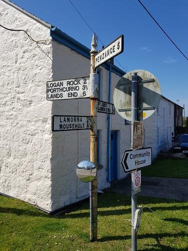 St Buryan Road Sign 2 210419