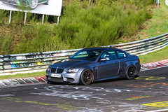 "Antoine's E92 M3 with 18"" EC-7 Wheels (ApexRaceParts) Tags: 18 e92m3 silver track nurburgring race ec7"