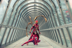 Heroes (sdupimages) Tags: superheroes spiderman ironspiderman spiderwoman model modèles shooting heros heroes costume cosplay man woman marvel comics models costumes