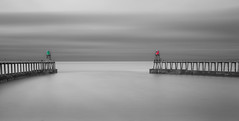 Entrance (paulantony2) Tags: monochrome sea harbour seascape whitby blackandwhite pier