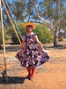 Outback Flounce (justplainrachel) Tags: justplainrachel rachel cd tv crossdresser transvestite trans retro vintage dress hat flounce portrait brokenhill nsw australia park outback floral red tights