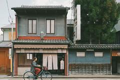 kyoto_march-82 (faeriedragon19) Tags: kyoto japan asia travel march spring old town temple zen buddhism uji garden shrine kansai olympus omd em5 kyogashi shop store front bike