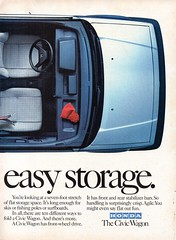 1985 Honda Civic Wagon Page 2 USA Original Magazine Advertisement (Darren Marlow) Tags:
