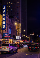 New York (KennardP) Tags: newyork newyorkcity manhattan canon canoneosr sigma50mmf14dghsmart sigmaartlens cityatnight citylights nightlights nightphotography handheldnightphotography cars buildings road signs