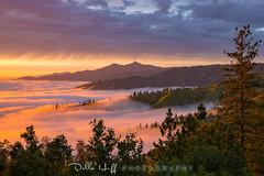 Sublime Sunset (Della Huff Photography) Tags: bigsur california spring fog sunset santa lucia mountains
