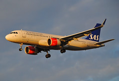 """""""Golden Hour"""" Scandinavian A320 NEO (Infinity & Beyond Photography: Kev Cook) Tags: sas scandinavian airlines airbus a320 neo aircraft airplane airliner london heathrow airport lhr myrtle avenue ave photos planes lnrgl"""